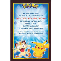Pikachu and Friends Custom Invitation