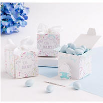 Gender Reveal Baby Boy Favor Boxes 24ct