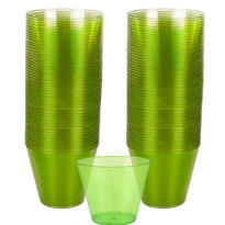 Kiwi Green Plastic Cups 72ct