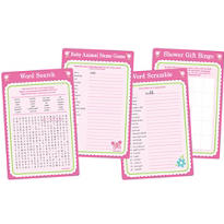 Welcome Little One Girl Baby Shower Game Kit for 20