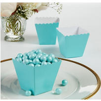 Robin's Egg Blue Scalloped Favor Boxes 100ct