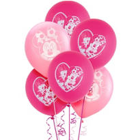 Latex Minnie Mouse Balloons 12in 6ct