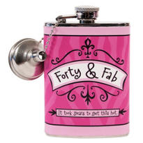 Forty & Fab Birthday Flask