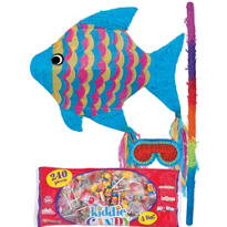 Neon Fish Pinata Kit
