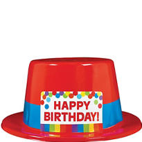 Rainbow Birthday Top Hat