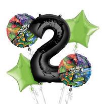 Teenage Mutant Ninja Turtles 2nd Birthday Balloon Bouquet 5pc