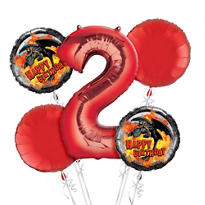 How To Train Your Dragon 2nd Birthday Balloon Bouquet 5pc