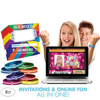 Original Invite Bandz Party Invitation Wristbands for 8