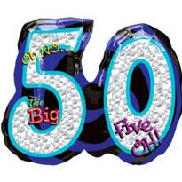 50th Birthday Balloon - Giant Oh No!