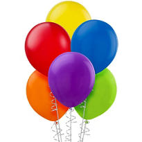 Assorted Color Latex Balloons 9in 20ct