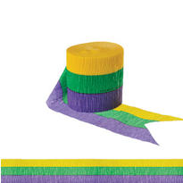 Mardi Gras Crepe Streamer 30ft