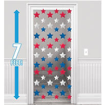 Patriotic Stars String Decorations 7ft 6ct