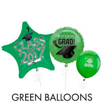 Green Graduation Balloons