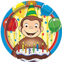 Curious George 1st Birthday Party Supplies