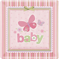 Carter Girl Baby Shower Party Supplies