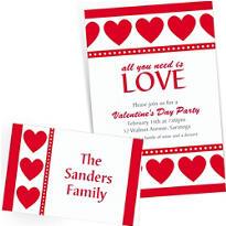 Custom Valentine's Day Invitations & Thank You Notes