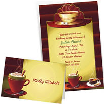 Custom Cafe Classics Invitations & Thank You Notes