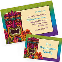 Custom Luau Invitations & Thank You Notes