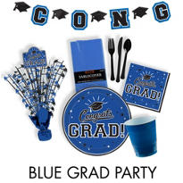 Congrats Grad Royal Blue Graduation Party Supplies