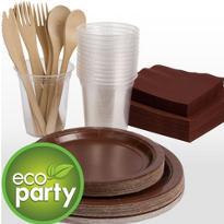 Eco Friendly Chocolate Brown Tableware