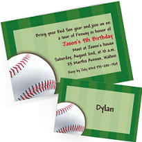 Custom Baseball Invitations & Thank You Notes
