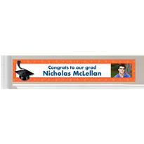 Custom Orange Graduation Banners