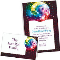 Custom 70s Theme Party Invitations & Thank You Notes