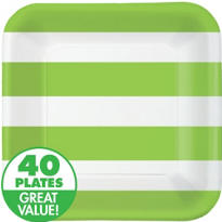Kiwi Cabana Stripe Value Plates & Tableware