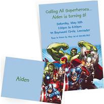 Custom Avengers Invitations & Thank You Notes