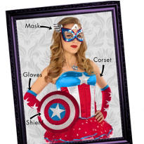 Captain America Mix & Match Women's Looks