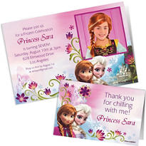Custom Frozen Invitations & Thank You Notes