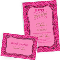 Custom Born to Be Fabulous Invitations & Thank You Notes