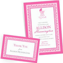 Custom Celebrate Baby Girl Invitations & Thank You Notes