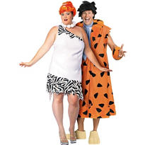 Plus Size Wilma Flintstone and Plus Size Fred Flintstone Couples Costumes