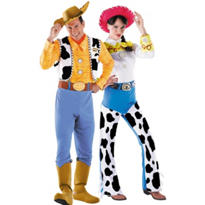 Deluxe Woody and Deluxe Jessie Toy Story Couples Costumes