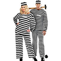 Plus Size Lady Lawless and Convict Prisoner Couples Costumes