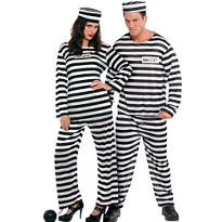 Lawless Lady and Jailbird Convict Prisoner Couples Costumes