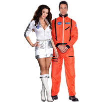 Space Case Astronaut and Orange Astronaut Couples Costumes