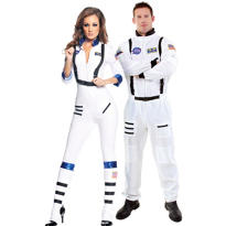 Blast Off Sexy Astronaut and White Astronaut Couples Costumes
