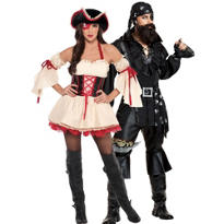 First Mate and Plundering Pirate Couples Costumes