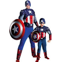 Captain America Daddy and Me Costumes