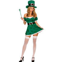 Adult Spank Me I'm Irish Leprechaun Costume