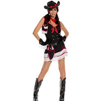 Adult Dirty Desperado Cowgirl Costume