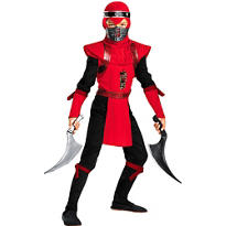 Boys Red Viper Ninja Costume Deluxe