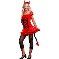 Teen Girls Lil' Devil Light-Up Costume