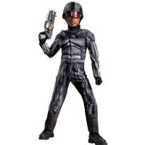 Boys Exo Swat Muscle Costume - Operation Rapid Strike Red Sector