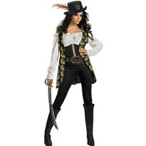 Adult Angelica Costume Deluxe - Pirates of the Caribbean