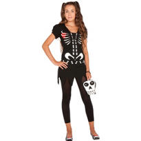 Teen Girls Chloe Bones Costume