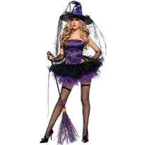 Adult Purple Spider Witch Costume