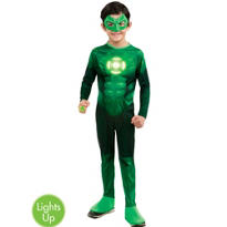 Boys Light-Up Hal Jordan Costume - Green Lantern